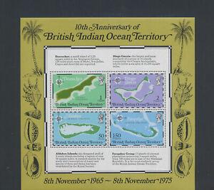 XC52299 British Indian Ocean maps cartography XXL sheet MNH