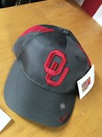 NWT New NIKE Team OU OKLAHOMA SOONERS Youth Boy Girl Adjustable HAT Gray Red