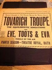 L1-2 Ephemera 1956 Advert Variety Artist Tovarich Troupe Eve Toots & Eva