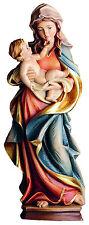 Muttergottes, Madonna mit Kind, Marienstatue Holzgeschnitzt, Neu 25 cm