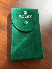 Rolex Green Velvet Storage & Travel Pouch Bag - NEW Genuine Rolex