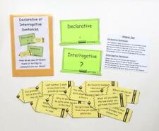 Teacher Made Literacy Center Resource Game Declarative Interrogative Sentences