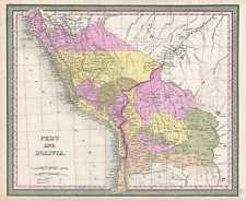 1849 Mitchell Map of Peru and Bolivia