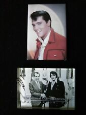 Two Vintage Elvis Presley Magnets (Young Elvis & Older Elvis w/ President Nixon)