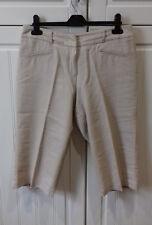 SZE 12 regolazioni costosi STONE COLORATE tagliato 3/4 Lunghezza Pantaloni Lino Mix