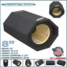 "8"" SINGLE PORTED SPEAKER BOX SUB BOX BASS TUBE SUB WOOFER GROUND-SHAKER"
