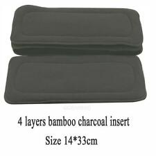 14*33CM 1PC Reusable 5 Layers Bamboo Charcoal Insert Baby Cloth Diaper Nappy Use