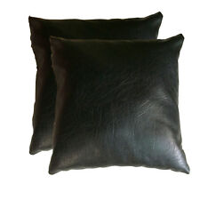 """16"""" Faux Leather Couch Pillow Sofa Throw Pillow Cushion Covers Complete Pillow"""