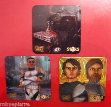 3 figurine magnetiche calamite panini STAR WARS THE CLONE n 97 109 116 staks