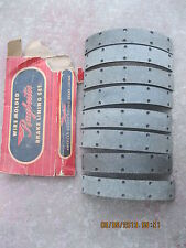 Brake shoe Linings 1949 Ford    Front and Rear wheels - Raybestos WM294A - 2024D