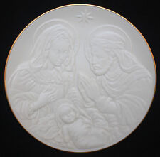 1993 Lenox Nativity Vignettes Holy Family Plate, White Bisque, Mint
