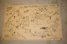Virginia and Truckee Railway Map Identifying Various Destinations V & T Railroad