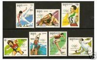 Kampuchea - 1989 Olympic Games set - MNH - SG 993/9