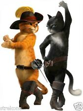 PUSS IN BOOTS & KITTY SOFTPAWS Walt Disney's Pixar Movie Window Cling Decal -NEW