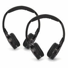 2x Dual Channels IR Infrared Cordless Wireless Headset Headphones Car DVD Stereo