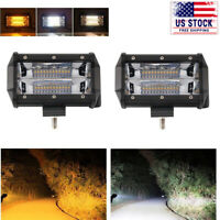 5inch LED Work Lights Fog Lamps Tractor Trailer Combo Fit John Deere Driving 2X