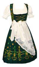 Sz 4 German DIRNDL Waitress Dress LONG Oktoberfest Hostess Green Christmas Women