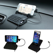 Car Holder Stand Mount USB Charger Charging Cradle Non-Slip Pad for Smart Phone