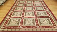 6 x 9 Hand woven French Aubusson Needle point 100% wool Area rug