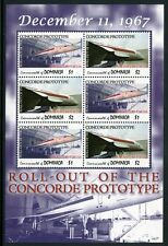 DOMINICA 2007 Concorde Flugzeuge Aircraft Airplanes 3803-04 Kleinbogen ** MNH