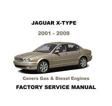 JAGUAR X TYPE 2001 - 2009 ULTIMATE FACTORY WORKSHOP SERVICE REPAIR FSM MANUAL