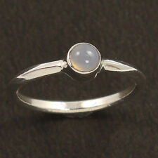 Elegant Ring Choose All Size 925 Sterling Silver Natural CHALCEDONY Gemstone