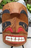 Northwest Coast First Nations Native Mask Aboriginal Indigenous Signed