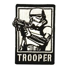 Storm Trooper Empire Drawn Blaster Star Wars Embroidered Iron On Applique Patch