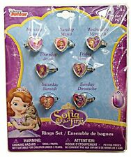 Disney Sofia the First 7 Days Heart Shaped Week Rings Set