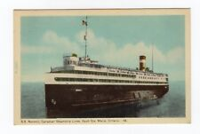Canada Steamship Lines S.S. NORONIC Sault Ste. Marie Ontario 1940s PECO 48