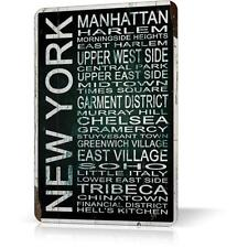 METAL TIN SIGN NEW YORK MANHATTAN SOUVENIR #5 Vintage Decor Home Bar Pub Garage