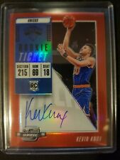 Kevin Knox 2018-19 Contenders Optic Rookie Ticket Auto Red /149