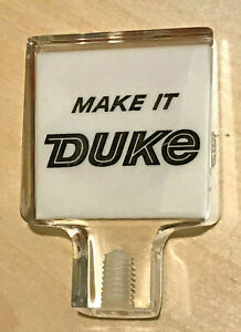 New Old Stock Duke Duquesne Early60's Lucite Beer Tap Handle/Knob Pittsburgh, PA
