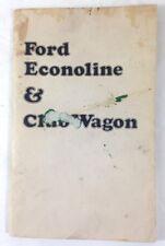 1974 ORIGINAL FACTORY OWNERS MANUAL FORD Econoline & Club Wagon