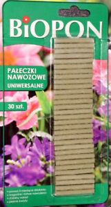 Fertilizer sticks BIOPON - universal - for every plants - 30 pieces