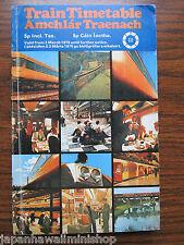 IRELAND Train Timetable CIE Córas Iompair Éireann Amchlár Traenach 1975 Fahrplan