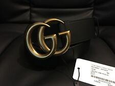 GUCCI MARMONT Cintura in pelle con fibbia in ottone doppia G-Taglia 90