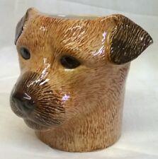 More details for quail ceramic border terrier dog desk tidy, pencil, pen, brush pot, vase, figure