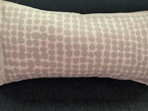 Kate Spade Grey Dot Stamps Throw Pillow Gray White Oblong