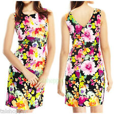 NWT 12 L $139 MUSE Floral Summer Sleeveless Sheath Day Dress Wear to Work Cute!