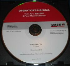 Case Twin Row 825a3pm 3 Point Planter Operation Amp Maintenance Book Manual Cd