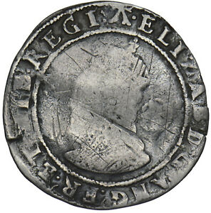 1583 ELIZABETH I SIXPENCE - BRITISH SILVER HAMMERED COIN