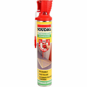 Soudal Plasterboard Adhesive Foam 750ml Genius Glue Gun