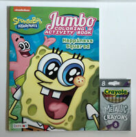 2 Sponge Bob Square Pants Gift Set Coloring  & Activity Book & Metallic Crayons