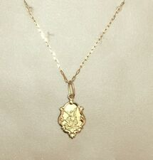 18k Gold St Michael the Archangel Medal Small + Chain gold 18k, Catholic