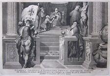 1748 RANIERI FARNESE esercito fiorentino Firenze Zuccari incisione von  Prenner