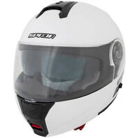 Spada Cyclone PEARL WHITE Flip Front DVS Motorcycle Motorbike Helmet New