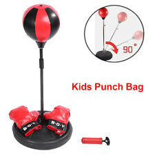 High Quality PU Air Hole Kids Punch Bag Ball Gloves Boxing Kit Height Adjustable