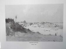 Golf Course Print HUNSTANTON B/W Facsimile Of Original 1910 Painting Under Snow