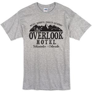 The Shining Inspired Overlook Hotel T-shirt Classic Iconic Film Movie Tee Shirts